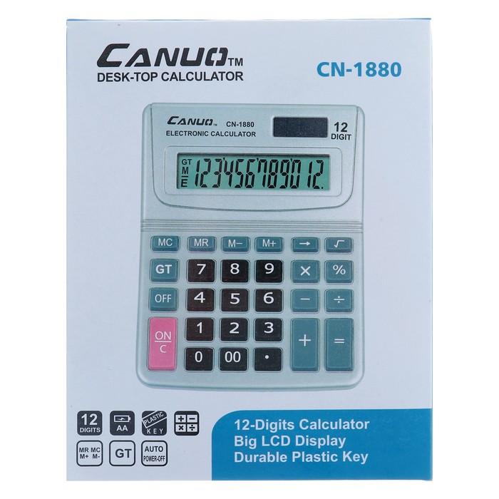 Калькулятор настольный, 12-разрядный, CN-1880, двойное питание - фото 504888690