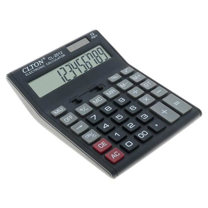 Калькулятор настольный, 12-разрядный, CL-2012, двойное питание - фото 418337294
