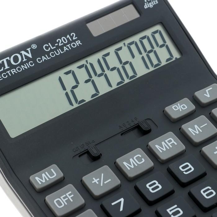 Калькулятор настольный, 12-разрядный, CL-2012, двойное питание - фото 418337295