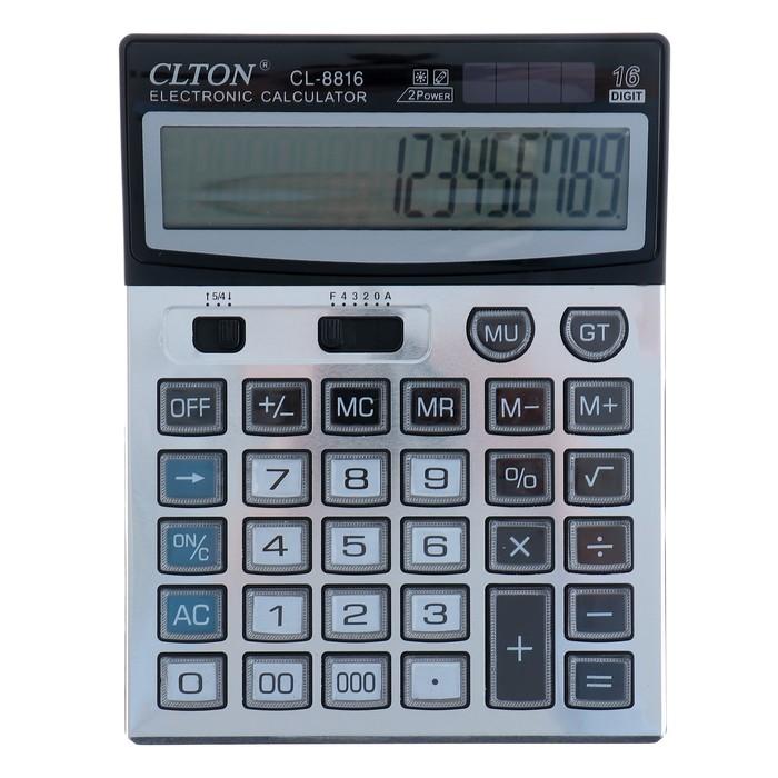 Калькулятор настольный, 16-разрядный, CL-8816, двойное питание - фото 666156666
