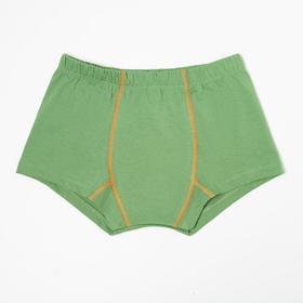 Трусы-боксеры для мальчика, цвет зелёный, рост 128-134 см