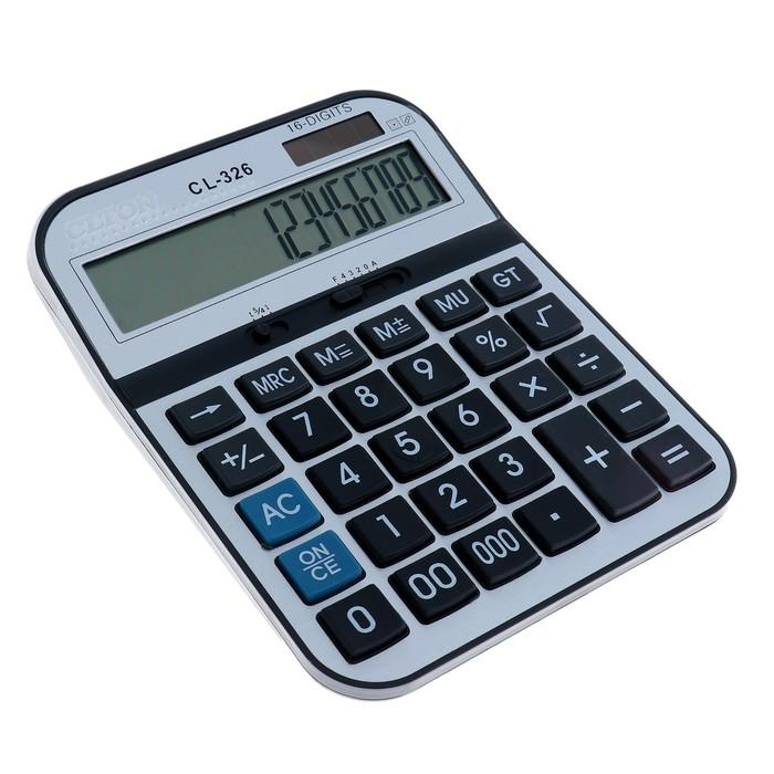 Калькулятор настольный, 16-разрядный, CL-326, двойное питание - фото 415605053