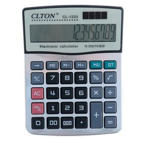 Калькулятор настольный, Clton CL-1233, 16-разрядный, двойное питание в Донецке