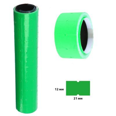 Ценники самоклеящиеся для Этикет-пистолета 12х21 мм, в 1 рулончике-200 штук (набор из 10 рулончиков) зеленые