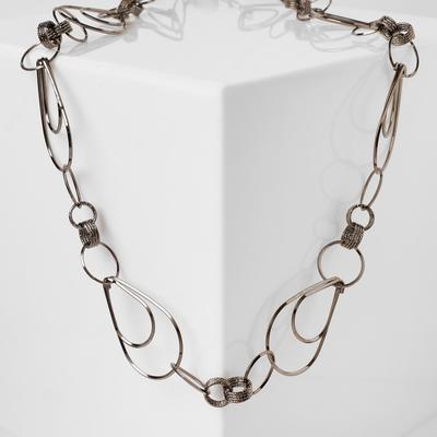 """Beads"""" Chain """" drops, color gray metal"""