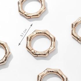 Bamboo carabiner ring d19 / 31mm 4mm (nab 5pcs price per nab) Golden AU