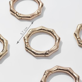 Bamboo carabiner ring d26 / 37mm 4mm (nab 5pcs price per nab) Golden AU