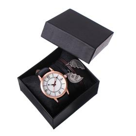 Best Friends gift set 2 in 1: wrist watch and bracelet, d=4 cm