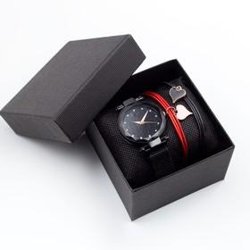 """Подарочный набор 2 в 1 """"Вия"""": наручные часы и браслет, d=3.5 см"""
