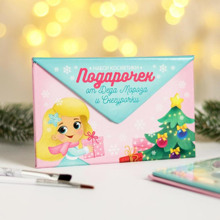 Набор косметики для девочки «Сияй в Новом году!», тени 5 цв по 1,3 гр, блеск 5 цв по 0,8 гр - фото 106043849