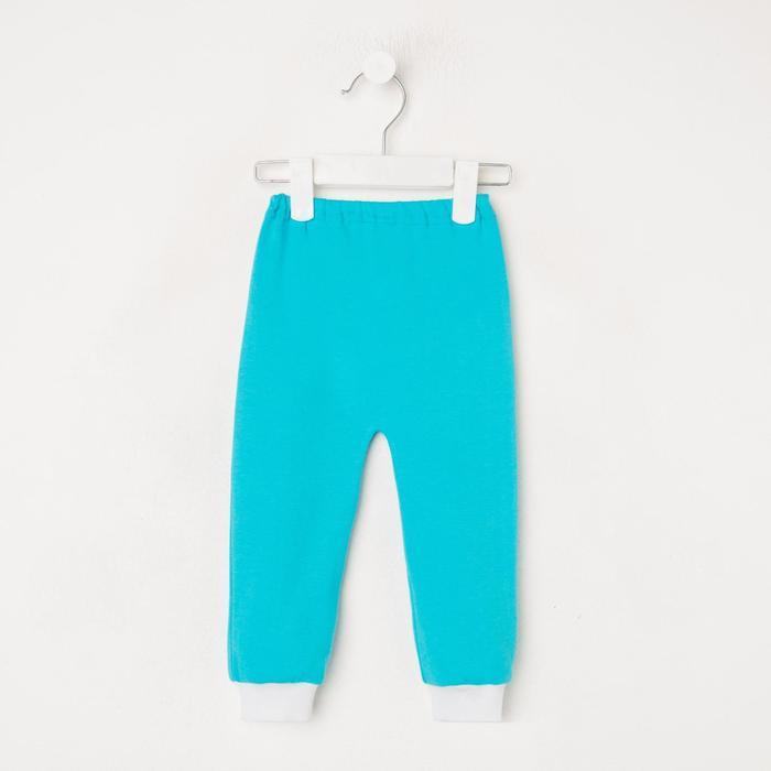Штанишки для мальчика, цвет голубой, рост 62 см - фото 76782624