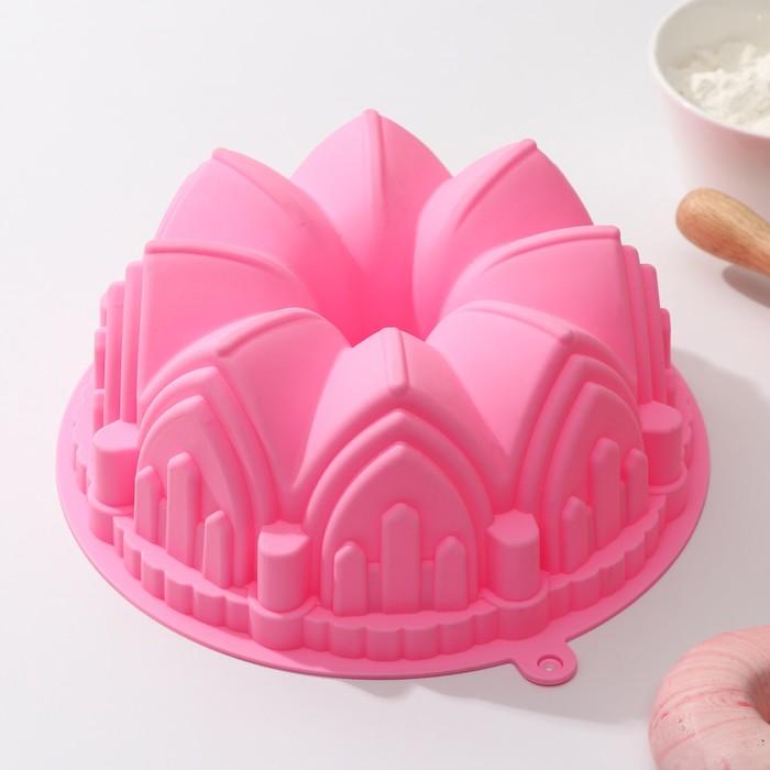 Форма для выпечки «Немецкий кекс. Замок», 22×8 см, цвет МИКС - фото 300938809