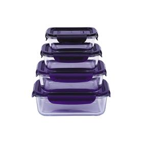Набор стеклянных контейнеров Oursson 0.37/ 0.63/ 1/ 1.5 л, 4 шт