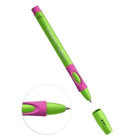 Ручка шариковая STABILO LeftRight для левшей, 0,8 мм, зелено-малиновый корпус, стержень синий