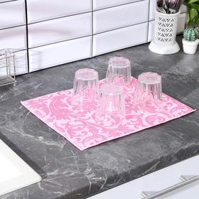 {{photo.Alt || photo.Description || 'Салфетка для сушки посуды Доляна «Флёр», 30×40 см, микрофибра, цвет розовый'}}