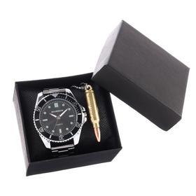 """Подарочный набор 2 в 1 """"Bolingdun"""": наручные часы, d=4.6 см, кулон"""