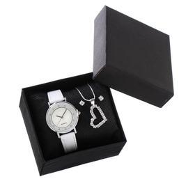 """Подарочный набор3 в 1 """"Сердце"""": наручные часы, d=3 см, кулон, серьги"""