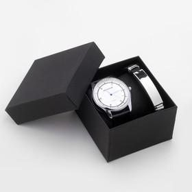 """Подарочный набор 2 в 1 """"Bolingdun"""": наручные часы, d=4.2 см, браслет"""