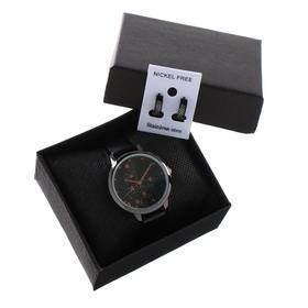 """Подарочный набор 2 в 1 """"Эмина"""": наручные часы, d=3.7 см, серьги"""