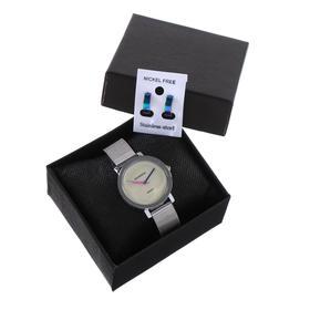 """Подарочный набор 2 в 1 """"Medissa"""": наручные часы, d=3.8 см, серьги"""