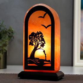 """Соляной светильник с диммером прямоугольник """"Доброе дерево"""" 1х15Вт Е14, 2-3 кг, 20х10х7 см"""