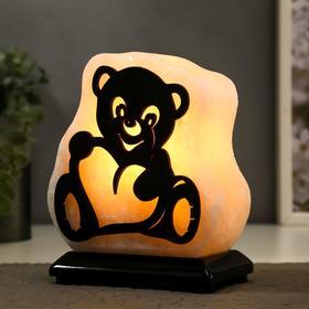 """Соляной светильник с диммером """"Мишка"""" 1х15Вт Е14, малый 1,8-2 кг 22х20х20 см"""