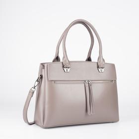 Сумка женская, отдел на молнии, 3 наружных кармана, длинный ремень, цвет розовый - фото 52045