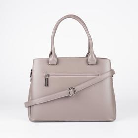 Сумка женская, отдел на молнии, 3 наружных кармана, длинный ремень, цвет розовый - фото 52046