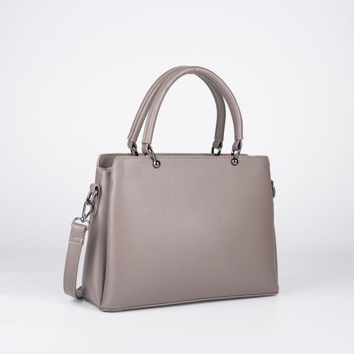 Сумка женская, отдел на молнии, наружный карман, длинный ремень, цвет сиреневый - фото 770065