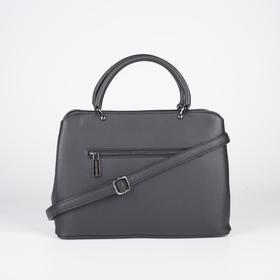 Сумка женская, отдел на молнии, наружный карман, длинный ремень, цвет чёрный - фото 52090