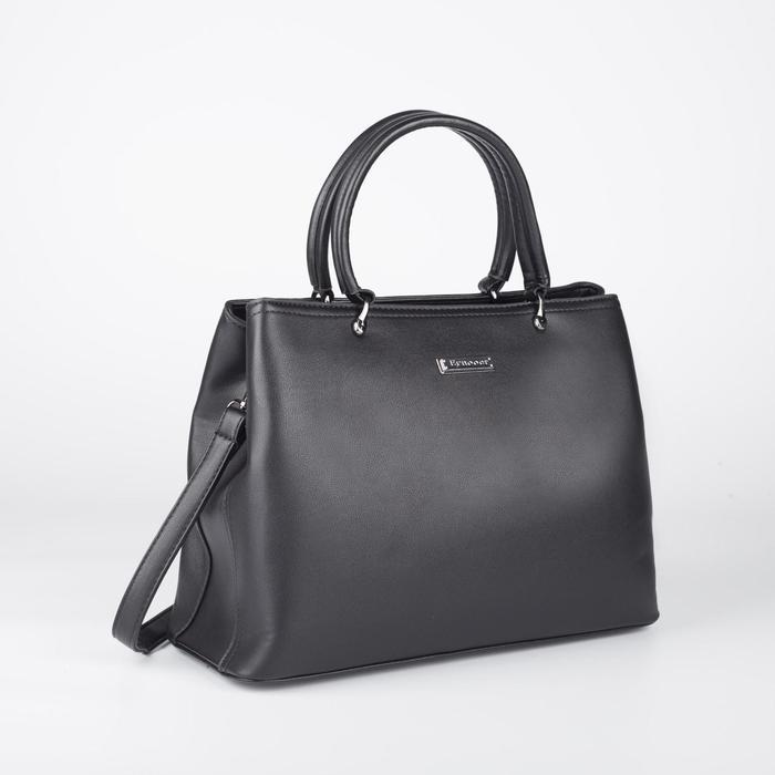 Сумка женская, отдел на молнии, наружный карман, цвет чёрный - фото 770125