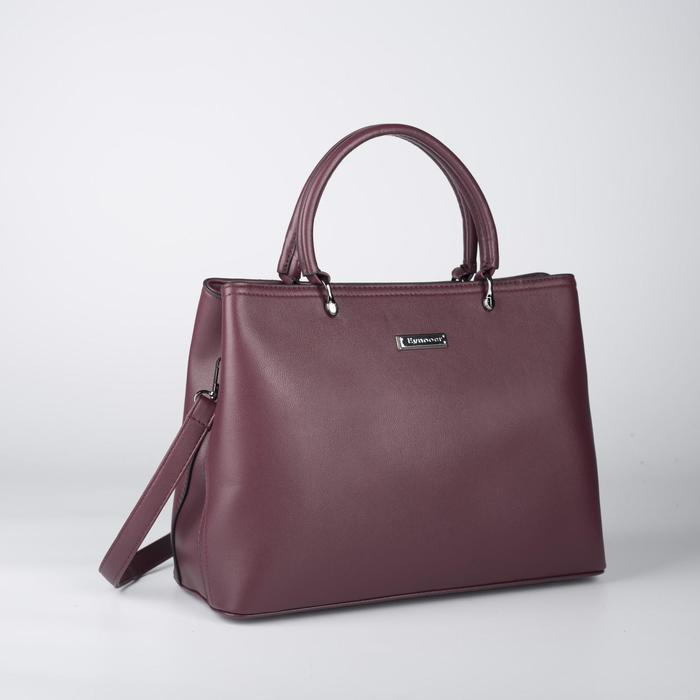 Сумка женская, отдел на молнии, наружный карман, цвет бордовый - фото 52129