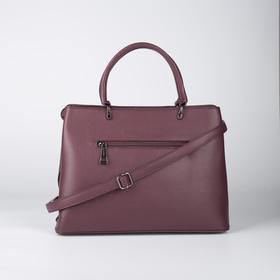 Сумка женская, отдел на молнии, наружный карман, цвет бордовый - фото 52130