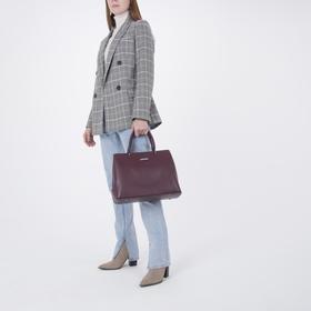 Сумка женская, отдел на молнии, наружный карман, цвет бордовый - фото 52132