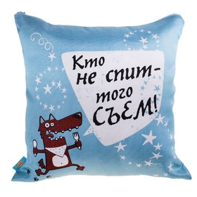 Подушка 'Кто не спит - того съем', 36х36 см Ош