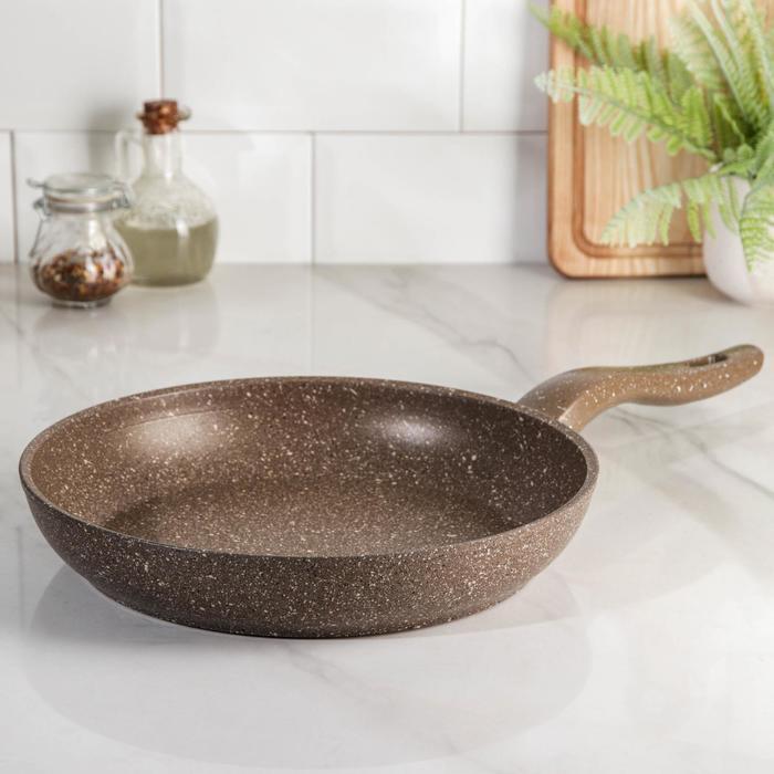 Сковорода Dariis браун, d=26 см, антипригарное покрытие, индукция - фото 770239
