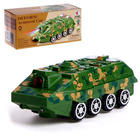 Army tank, transformation, battery-powered, light and sound effects