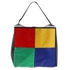 """Термо-сумка """"Пикник"""", 1 отдел, регулируемая ручка, цветные квадраты"""