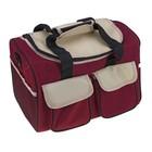 """Термо-сумка """"Пикник"""" 1 отдел, 4 наружных кармана, бежево-бордовый"""