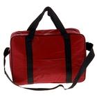 """Термо-сумка """"Пикник"""" 1 отдел, наружный карман, длинный ремень, бордовый"""