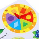 Книга с часиками картонная «Цифры, цвета, формы» 10 стр. - фото 106749544