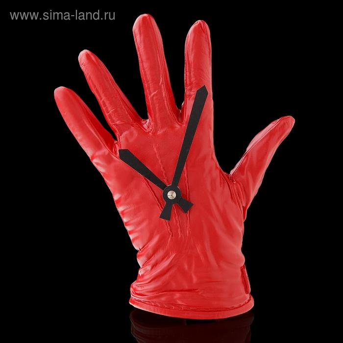 """Часы настенные """"Перчатка красная"""""""