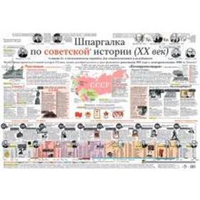 Шпаргалка по советской истории, плакат в тубусе
