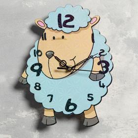 """Часы настенные """"Ягнёнок"""", d=23.5, плавный ход"""
