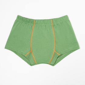 Трусы-боксеры для мальчика, цвет зелёный, рост 122 см