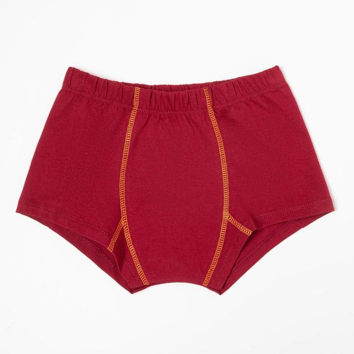 Трусы-боксеры для мальчика, цвет бордовый, рост 92 см - фото 76746711