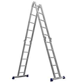 """Лестница-трансформер """"СИБИН"""" ЛТ-45 38853, алюминиевая 4x5 ступеней"""