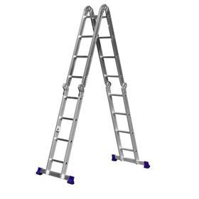 """Лестница-трансформер """"СИБИН"""" ЛТ-44 38852, алюминиевая 4x4 ступеней"""
