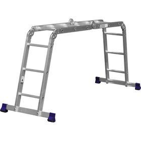 """Лестница-трансформер """"СИБИН"""" ЛТ-43 38851, алюминиевая 4x3 ступеней"""