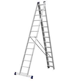 """Лестница """"СИБИН"""" 38833-13, трехсекционная, со стабилизатором, 13 ступеней"""